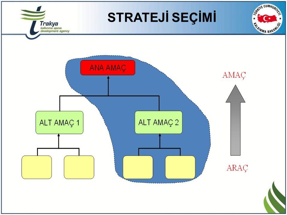 STRATEJİ SEÇİMİ Seçilen Strateji