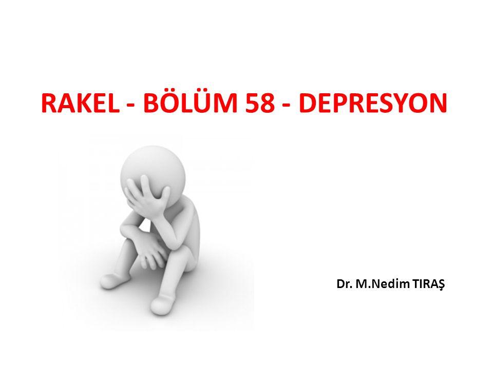DEPRESYON KRİTERLERİNDE DSM-4 VE DSM-5 ARASINDAKİ DEĞİŞİKLİKLER DSM-5'te Majör Depresif Atağın E Tanı Ölçütündeki yastan sonra 2 ay koşulu kaldırılmıştır.