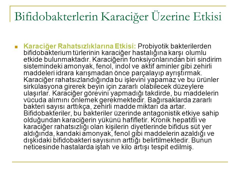 Bifidobakterlerin Karaciğer Üzerine Etkisi Karaciğer Rahatsızlıklarına Etkisi: Probiyotik bakterilerden bifidobakterium türlerinin karaciğer hastalığı