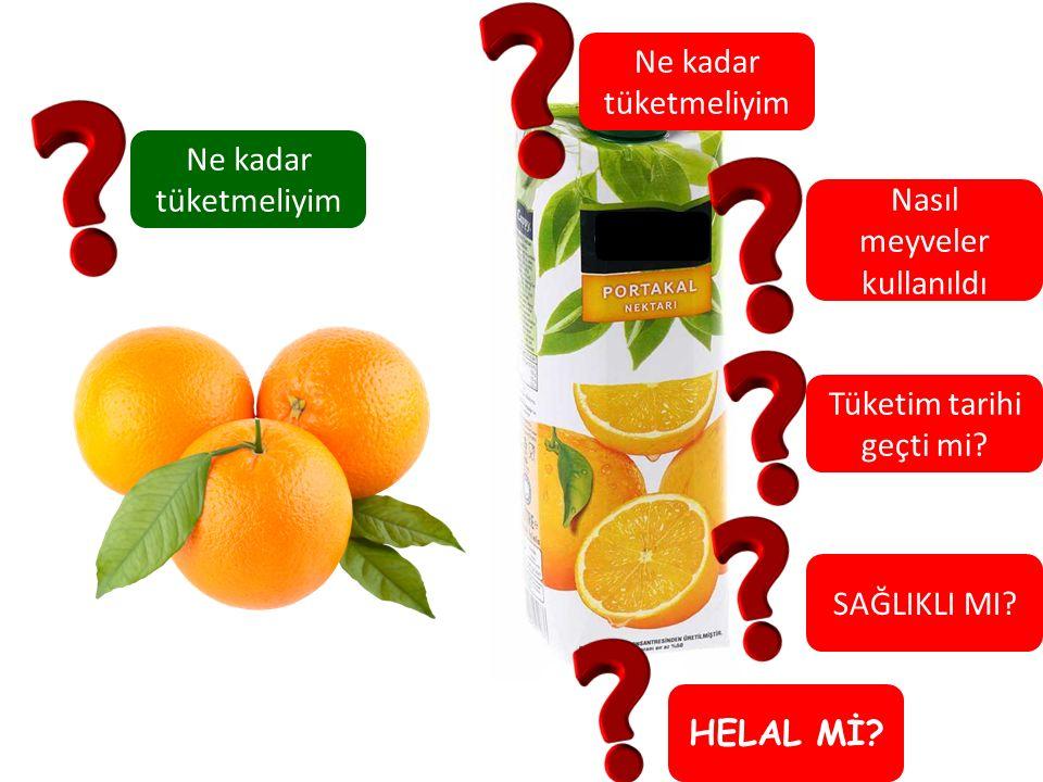 Ne kadar tüketmeliyim Nasıl meyveler kullanıldı Tüketim tarihi geçti mi? SAĞLIKLI MI? HELAL Mİ?