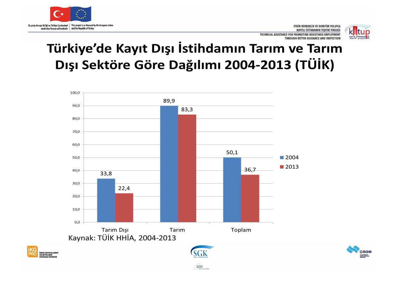 Mevsimlik Tarım İşçilerinin Gelir Gruplarına Göre Dağılımı Kaynak: TÜİK HHBA 2010'dan hesaplanmıştır İçinde Karadeniz 2013/b