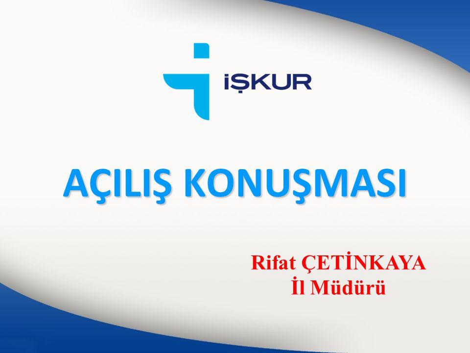 Fatih AKPINAR İş ve Meslek Danışmanı fatih.akpinar@iskur.gov.tr 0 (352) 231 12 45 – Dahili: 168 /iskurkayseri www.iskur.gov.tr