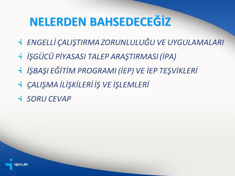 ENGELLİLERE YÖNELİK HİZMETLER Songül TUFAN