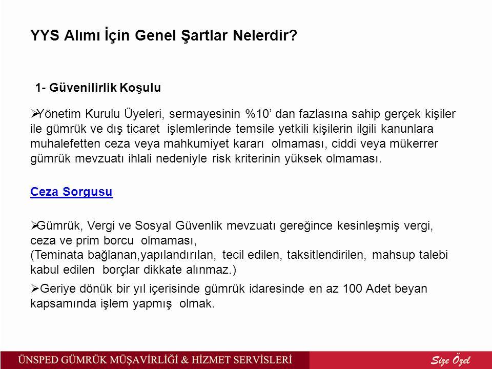 İzinli Alıcı Yetkisi Kapsamında Transit Taşımacılığı Yapılamayacak Eşya a)Kanun, genel düzenleyici işlemler ve uluslararası anlaşmalarla ithali veya transiti yasaklanmış veya kısıtlanmış olan eşya, b)Türkiye'ye ithali belli kurum ve kuruluşlara bırakılan eşya, c)Gümrük Yönetmeliğinin 196.