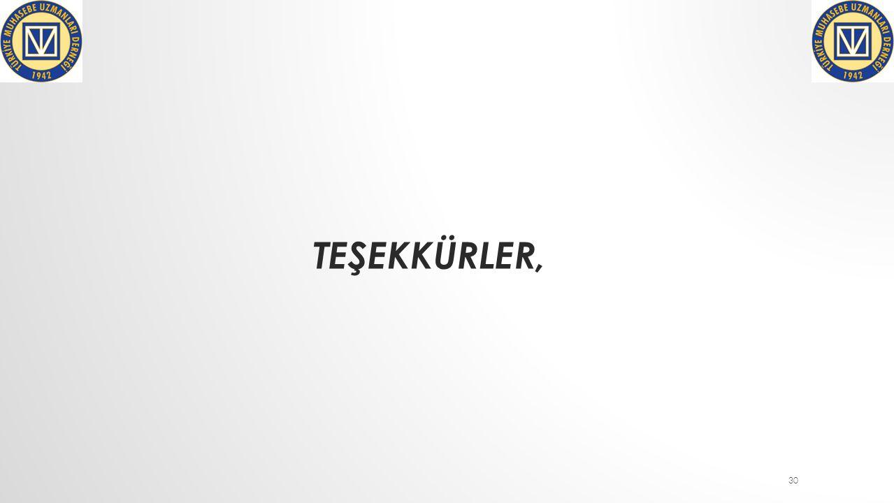 TEŞEKKÜRLER, 30