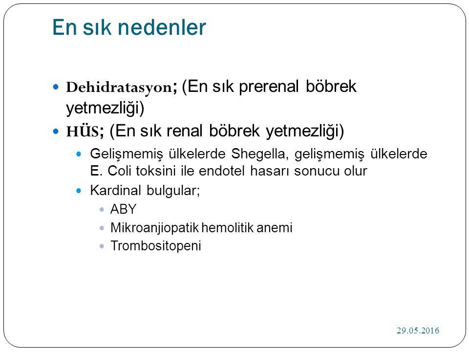 Hematüri, proteinüri= Glomerul hastalıkları İdrarda eozinofil= İlaca bağlı tubulointerstisyel nefrit