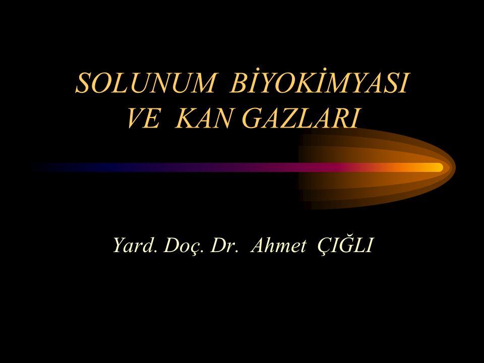 SOLUNUM BİYOKİMYASI VE KAN GAZLARI Yard. Doç. Dr. Ahmet ÇIĞLI