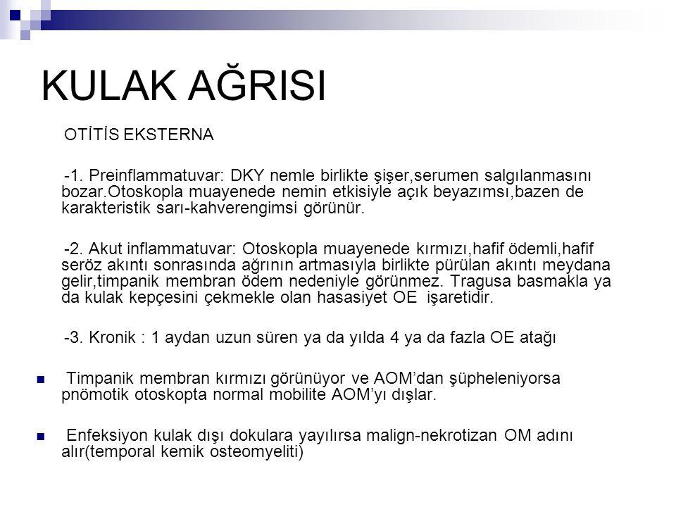 KULAK AĞRISI OTİTİS EKSTERNA -1.