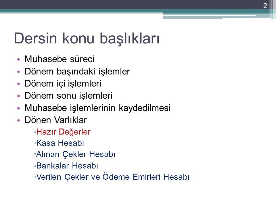 ÖRNEK: Ahmet Kısa 100.000.- Lira parayı ve 85.000 TL'lik ticari malını sermaye olarak koyarak 27.10.2013 tarihinde A işletmesini kurmuştur.