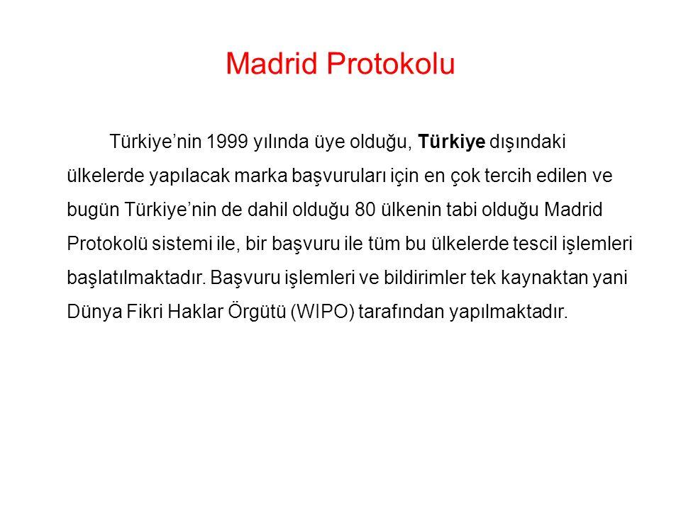 Madrid Protokolu Türkiye'nin 1999 yılında üye olduğu, Türkiye dışındaki ülkelerde yapılacak marka başvuruları için en çok tercih edilen ve bugün Türki