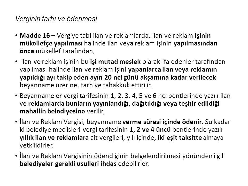 BELEDİYE GELİRLERİ KANUNU GENEL TEBLİĞİ (SERİ NO: 41) (28 Şubat 2012 tarihli R.G.) 2.