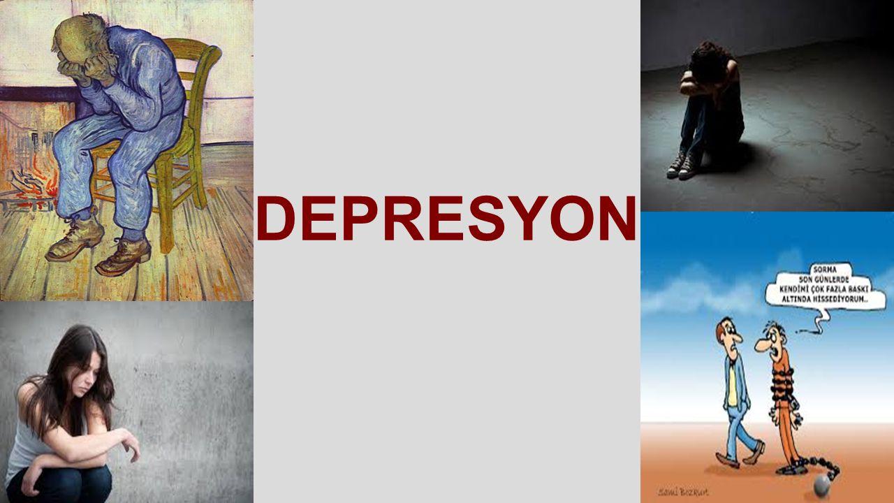 Major depresyon alt grupları -Kronik seyirli depresyon -Psikotik belirtiler -Atipik depresyon(çok yeme,çok uyuma) -Melankolik depresyon -Doğum sonrası başlayan depresyon (post partum depresyon) -Katatonik belirtiler(hareketsizlik,negativite)