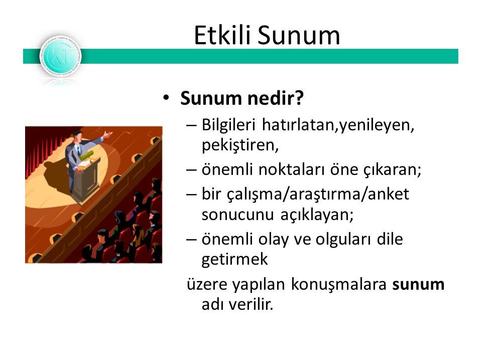 Etkili Sunum Sunum nedir.