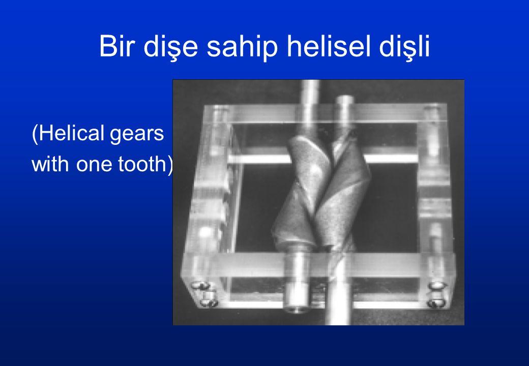 Bir dişe sahip helisel dişli (Helical gears with one tooth)