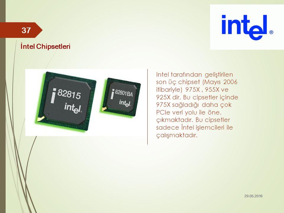 Intel tarafından geliştirilen son üç chipset (Mayıs 2006 itibariyle) 975X, 955X ve 925X dir. Bu cipsetler içinde 975X sağladığı daha çok PCIe veri yol