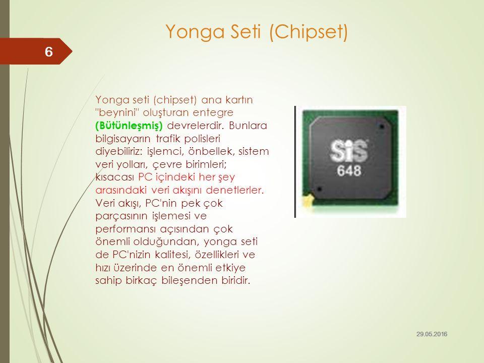 Intel tarafından geliştirilen son üç chipset (Mayıs 2006 itibariyle) 975X, 955X ve 925X dir.