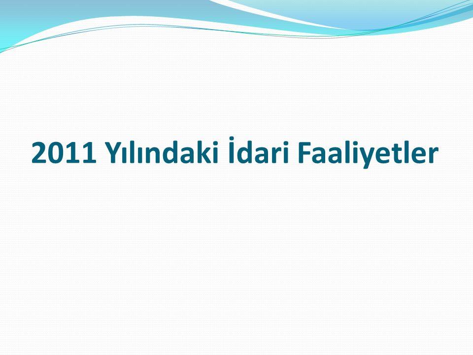 2011 Yılındaki İdari Faaliyetler