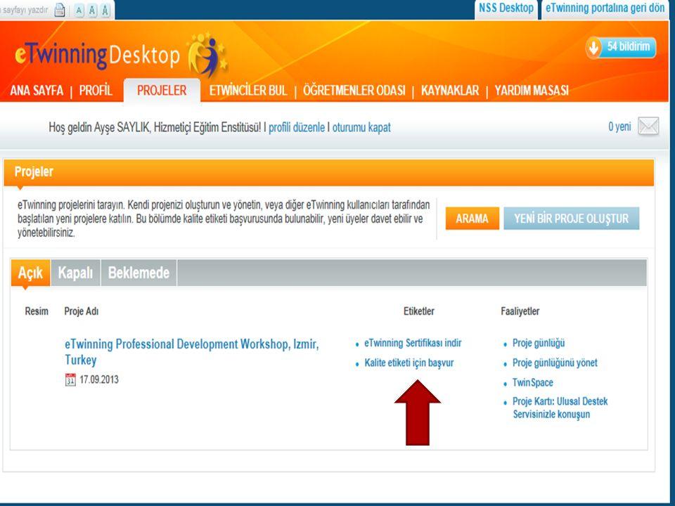 Ekim 2009 dan itibaren Avrupa Kalite Etiketi sadece yılda bir kez verilmekte ve eTwinning Portalından duyurulmaktadır.