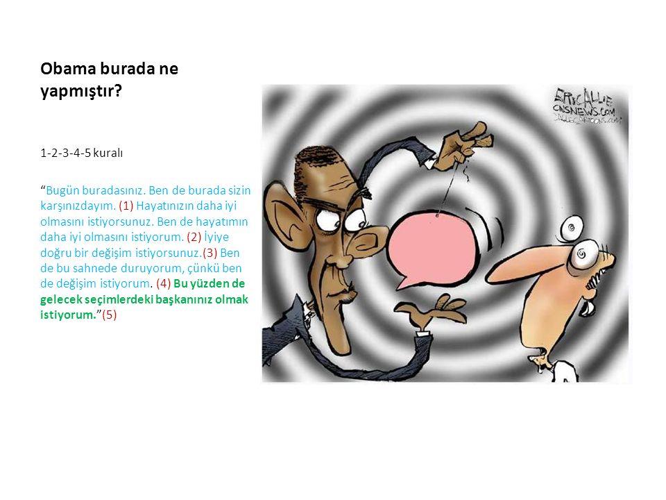 Obama burada ne yapmıştır. 1-2-3-4-5 kuralı Bugün buradasınız.
