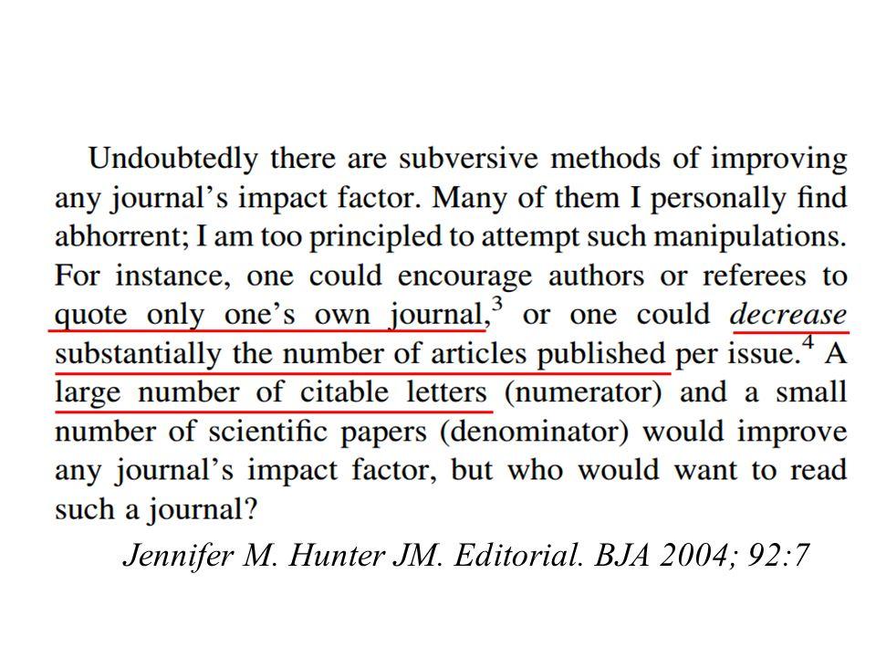 Jennifer M. Hunter JM. Editorial. BJA 2004; 92:7