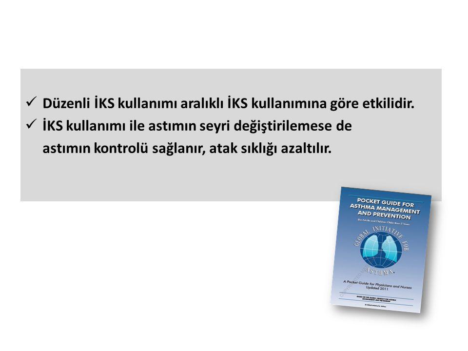 Düzenli İKS kullanımı aralıklı İKS kullanımına göre etkilidir.