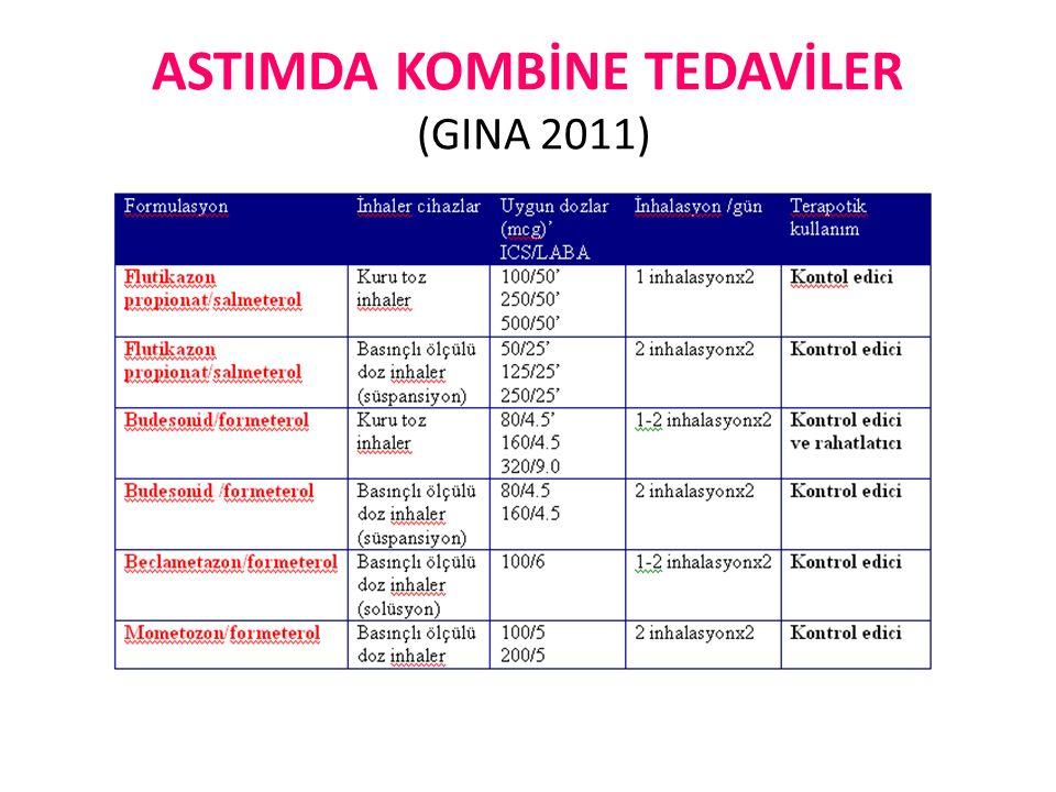 ASTIMDA KOMBİNE TEDAVİLER (GINA 2011)