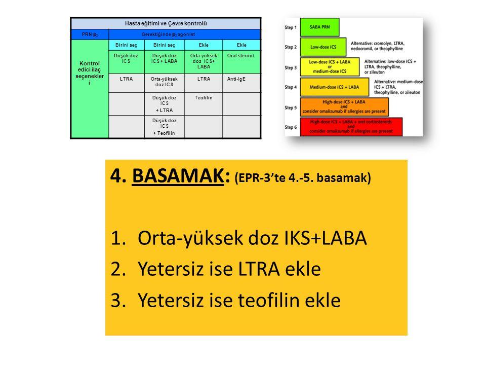 4. BASAMAK: (EPR-3'te 4.-5.