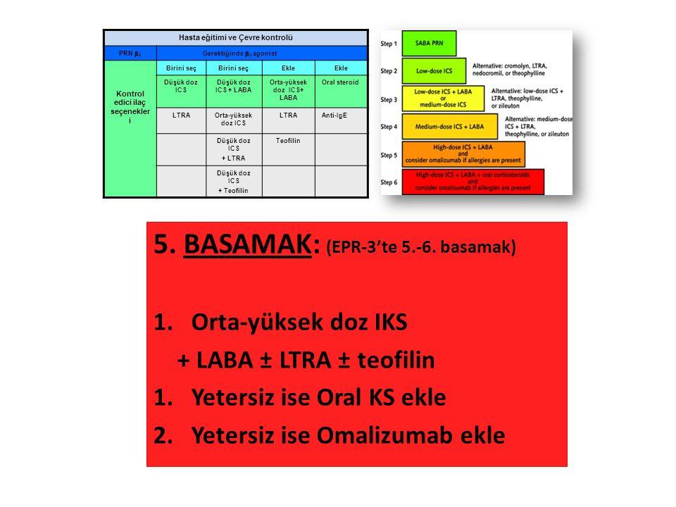 5. BASAMAK: (EPR-3'te 5.-6.
