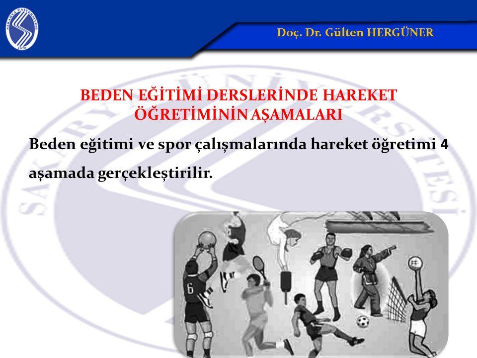 BEDEN EĞİTİMİ DERSLERİNDE HAREKET ÖĞRETİMİNİN AŞAMALARI Beden eğitimi ve spor çalışmalarında hareket öğretimi 4 aşamada gerçekleştirilir.