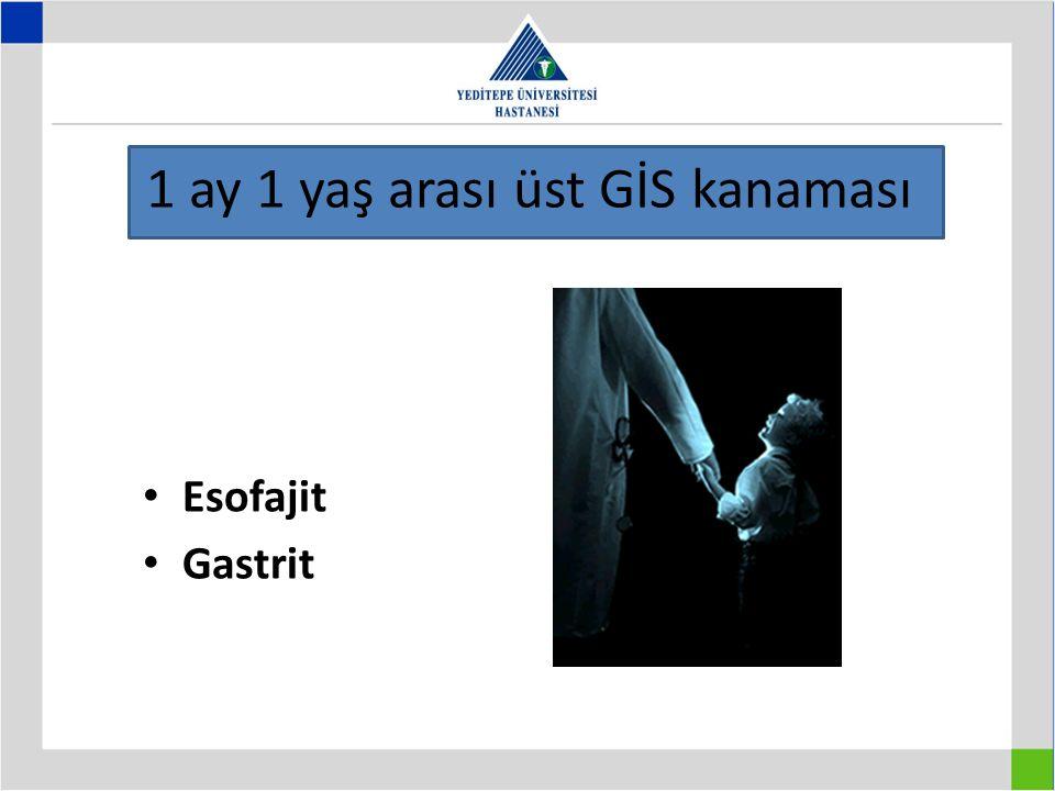 1 ay 1 yaş arası üst GİS kanaması Esofajit Gastrit