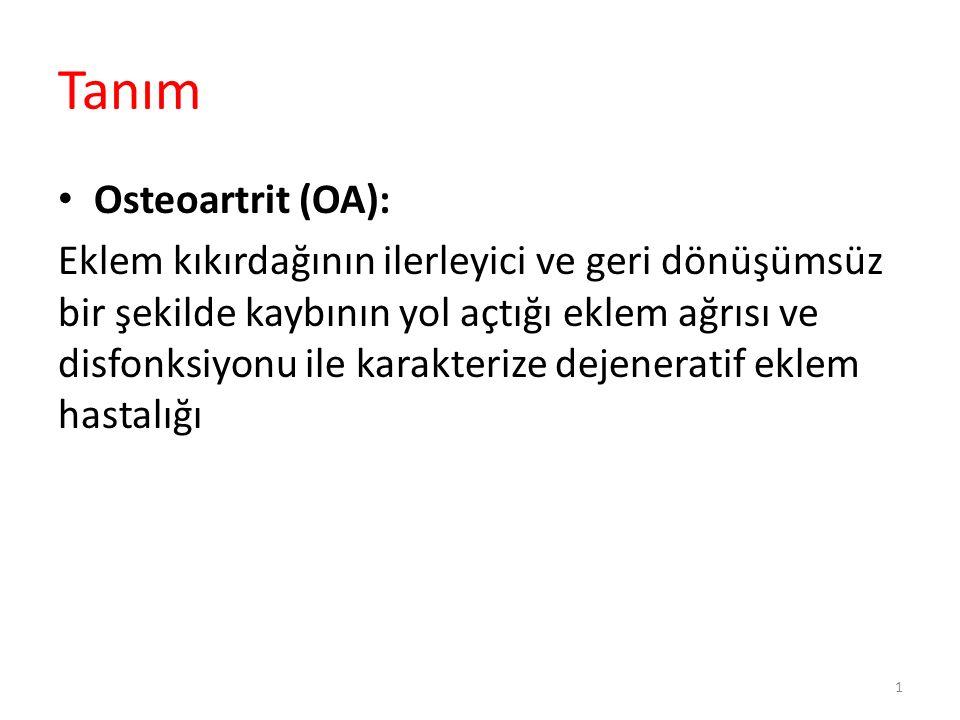 OARSI 2014 Osteoartritis Research Society International Mart 2014 te yayımlandı Aile Hekimliği, Romatolog, Ortopedist, Fiziksel Tıp ve Rehabilitasyon, Kanıta Dayalı Tıp Üç kıtada ve 10 ülke (ABD, İngiltere, Fransa, Hollanda, Belçika, İsveç, Danimarka, Avustralya, Japonya ve Kanada) 52