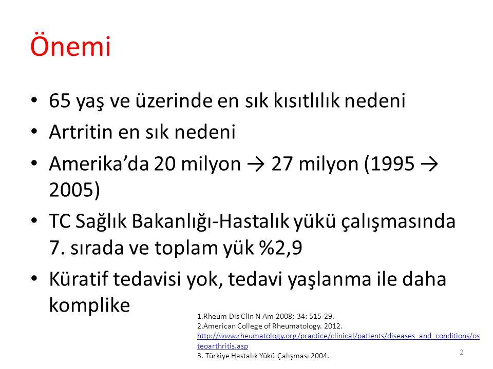 ACR – 2012, Diz OA Duruma göre önerilmeyenler Kondroitin sülfat Glukozamin Topikal kapsaisin 43
