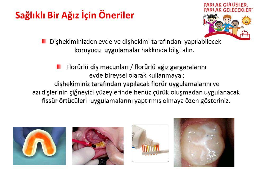 Sağlıklı Bir Ağız İçin Öneriler Dişhekiminizden evde ve dişhekimi tarafından yapılabilecek koruyucu uygulamalar koruyucu uygulamalar hakkında bilgi al