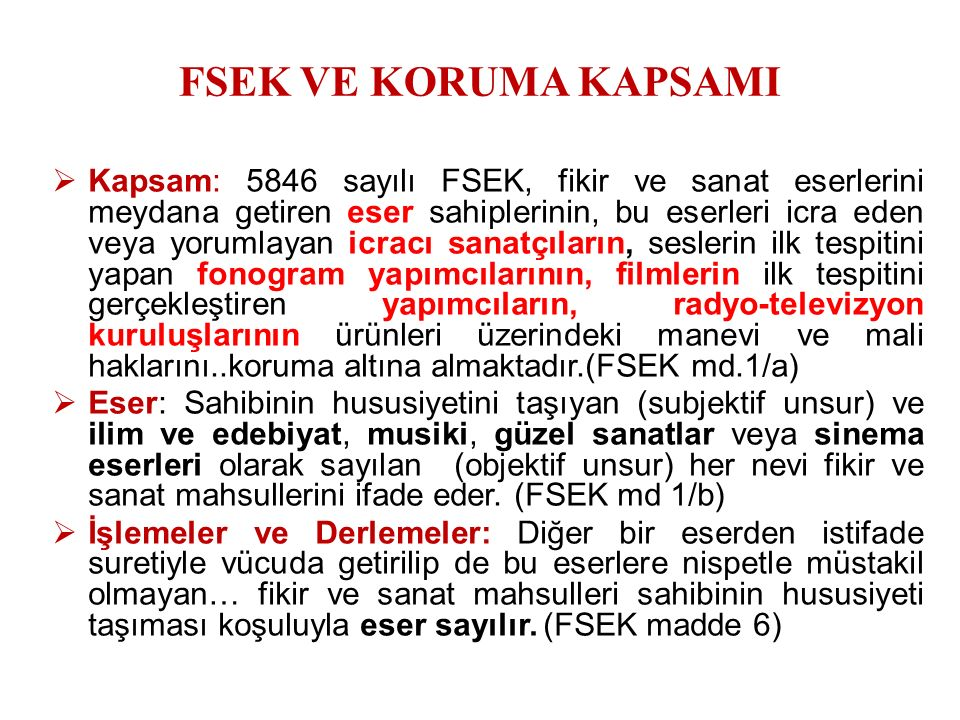 Film Yapımcılığı Karinesi: FSEK m. 80/2 27