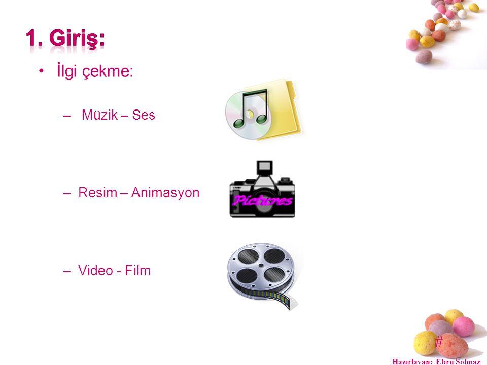 # İlgi çekme: – Müzik – Ses –Resim – Animasyon –Video - Film Hazırlayan: Ebru Solmaz