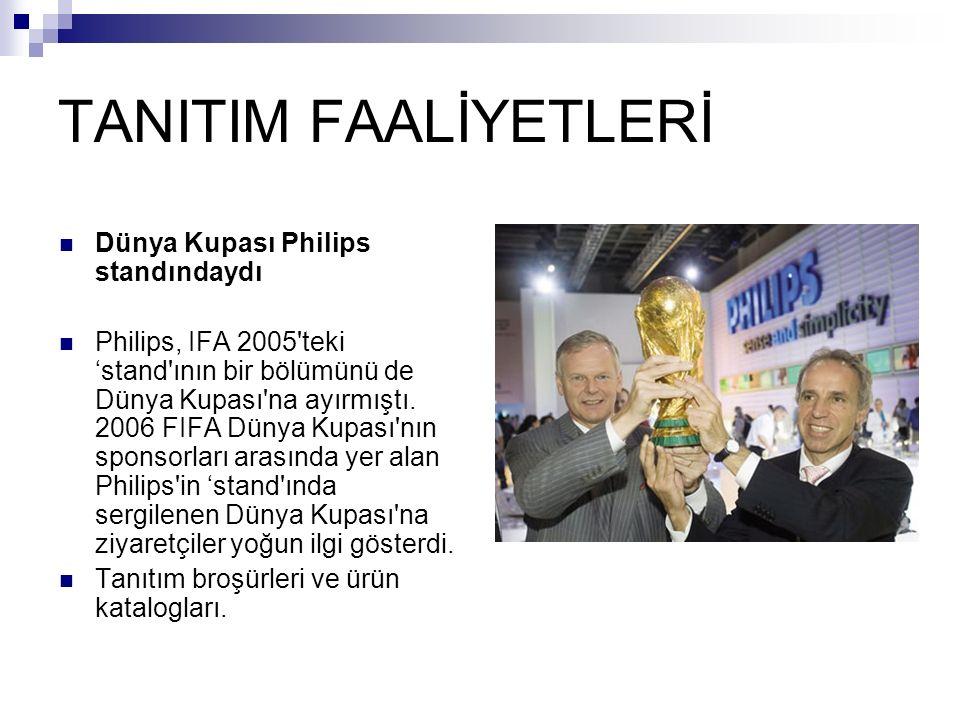 TANITIM FAALİYETLERİ Dünya Kupası Philips standındaydı Philips, IFA 2005'teki 'stand'ının bir bölümünü de Dünya Kupası'na ayırmıştı. 2006 FIFA Dünya K