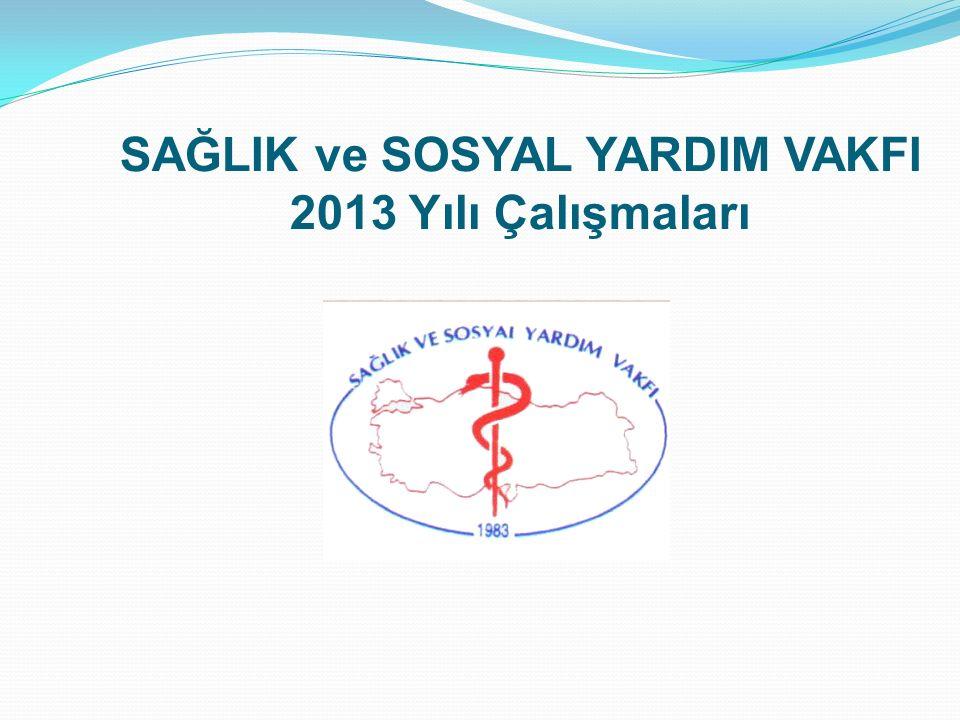 SAĞLIK ve SOSYAL YARDIM VAKFI 2013 Yılı Çalışmaları