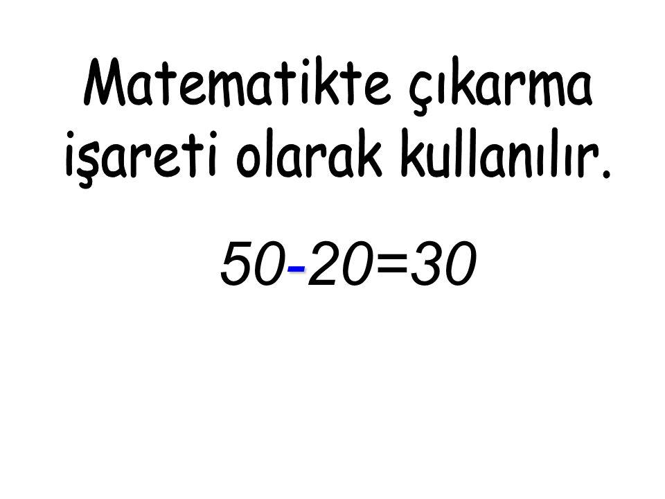 - 50-20=30