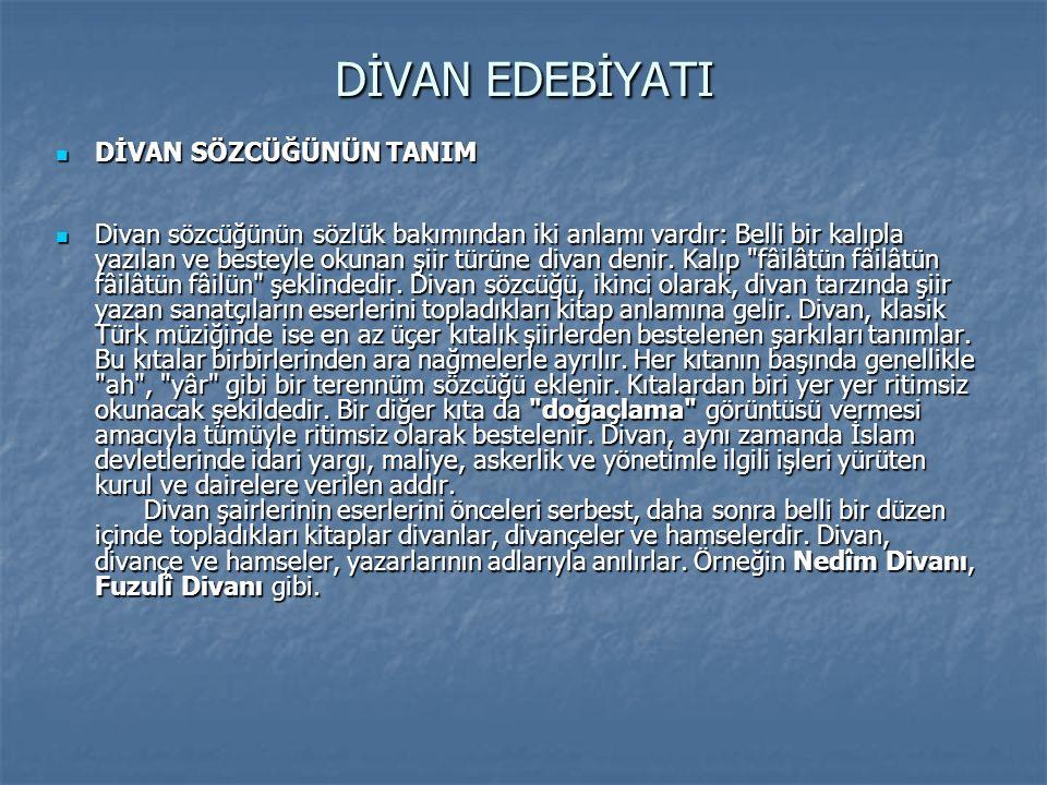DivanDivan Şairlerin şiirlerini belli bir düzen içinde topladıkları kitaplardır.