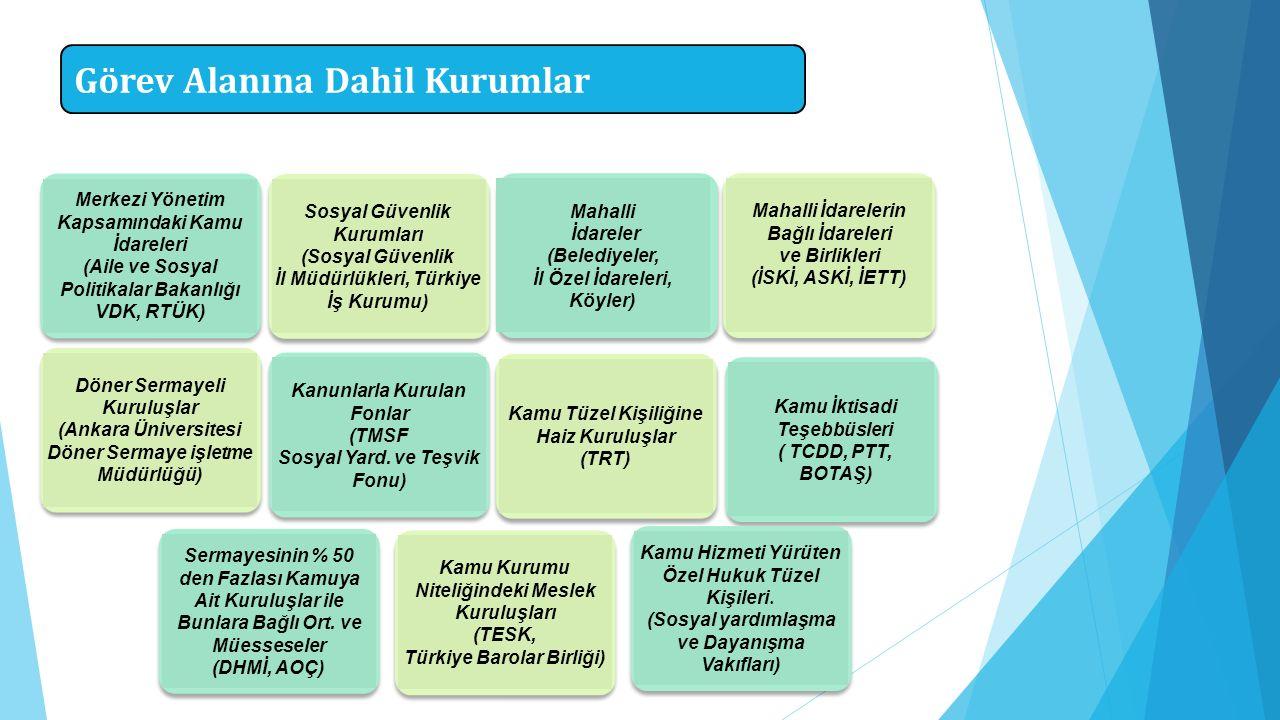 Görev Alanına Dahil Kurumlar Merkezi Yönetim Kapsamındaki Kamu İdareleri (Aile ve Sosyal Politikalar Bakanlığı VDK, RTÜK) Döner Sermayeli Kuruluşlar (