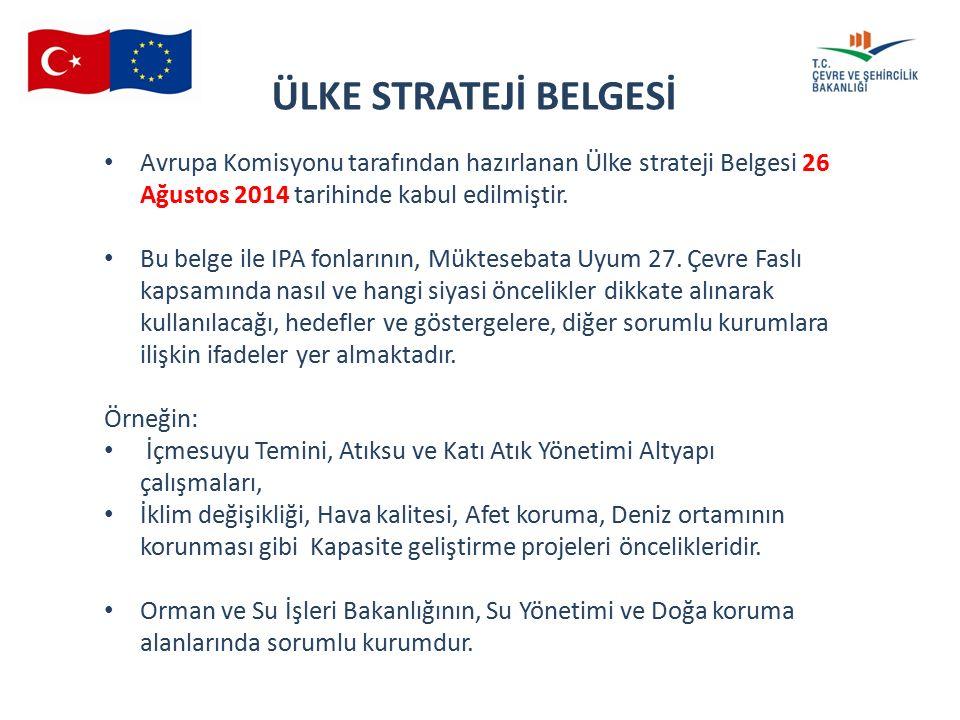 16 th SMC 04.06.2015 ÜLKE STRATEJİ BELGESİ Avrupa Komisyonu tarafından hazırlanan Ülke strateji Belgesi 26 Ağustos 2014 tarihinde kabul edilmiştir.