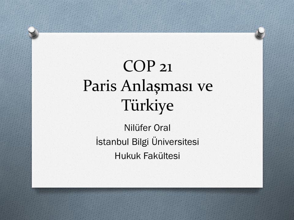 COP 21 Paris Anlaşması ve Türkiye Nilüfer Oral İstanbul Bilgi Üniversitesi Hukuk Fakültesi
