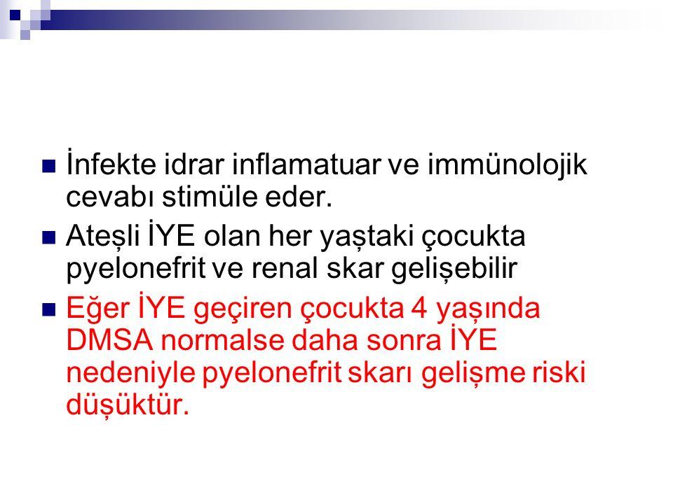 İnfekte idrar inflamatuar ve immünolojik cevabı stimüle eder.