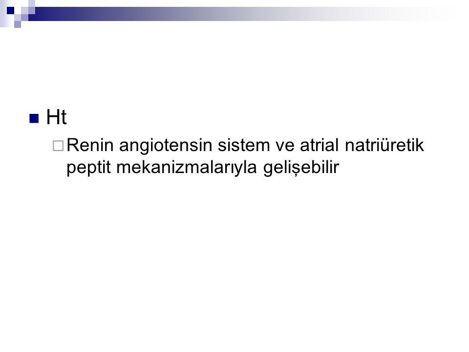 Ht  Renin angiotensin sistem ve atrial natriüretik peptit mekanizmalarıyla gelişebilir