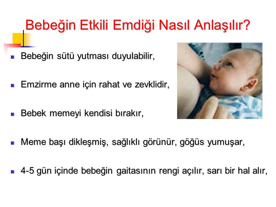 Bebeğin Etkili Emdiği Nasıl Anlaşılır.