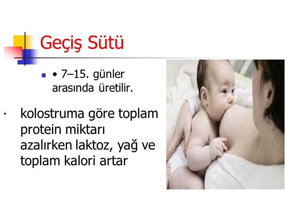 Matür (Olgun) Süt: Doğumdan birkaç gün sonra salgılanmaya başlar.