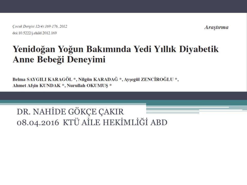 DAB'leri görülebilen başlıca metabolik ve hematolojik problemler açısından tetkik edildi. YÖNTEM