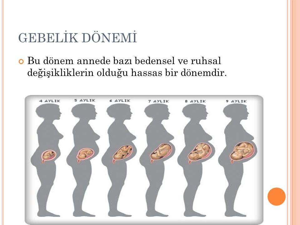 ANNE ADAYI Annede ilk 3 ayda kütle artışı yaklaşık 1,5-2 kg kadar olmalı doğuma kadar 10-13 kg olmalıdır.