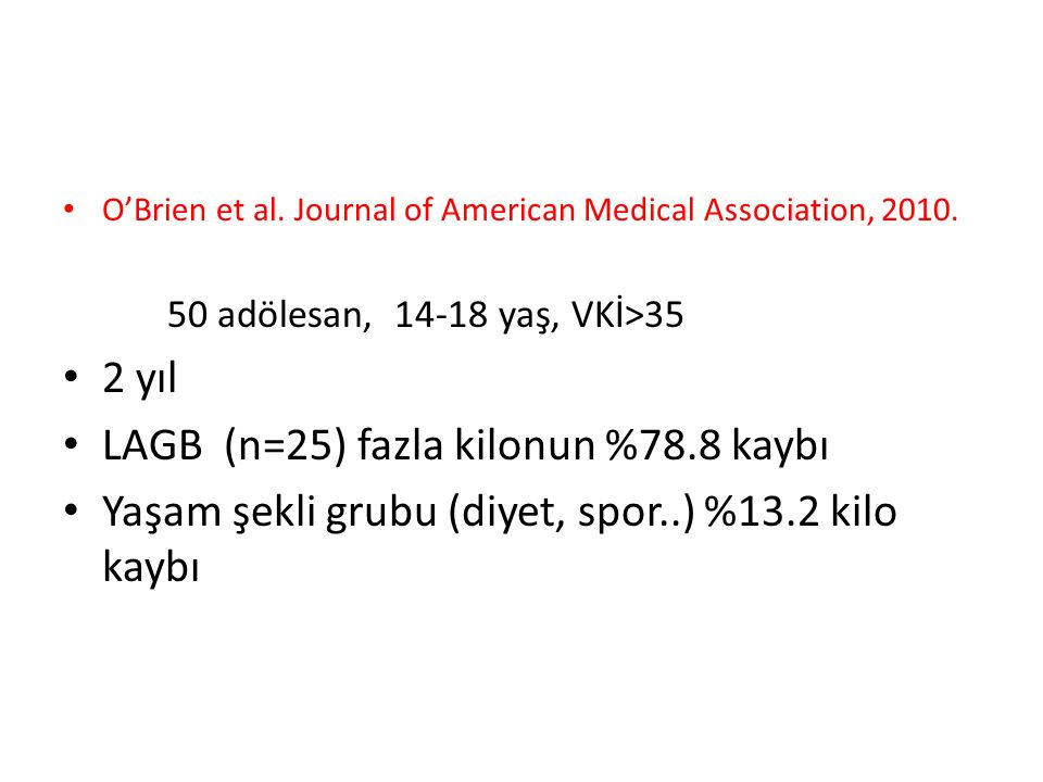 O'Brien et al. Journal of American Medical Association, 2010.