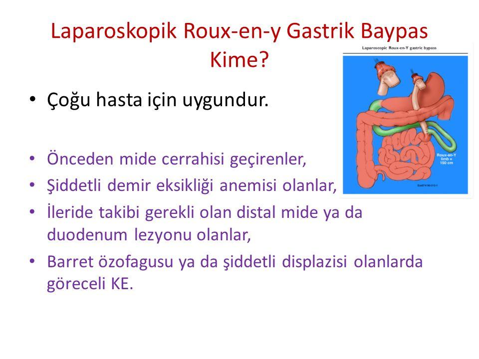Laparoskopik Roux-en-y Gastrik Baypas Kime? Çoğu hasta için uygundur. Önceden mide cerrahisi geçirenler, Şiddetli demir eksikliği anemisi olanlar, İle